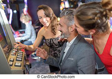 bild, szene, kasino
