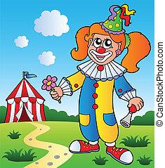 bild, thema, 3, clown