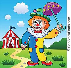 bild, thema, 4, clown
