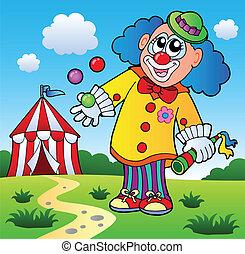 bild, thema, 5, clown