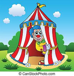 bild, thema, clown, 6