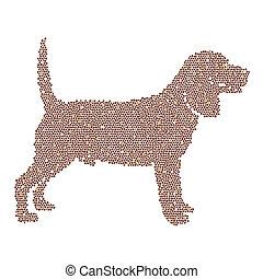 bild, vektor, design, labrador, hund
