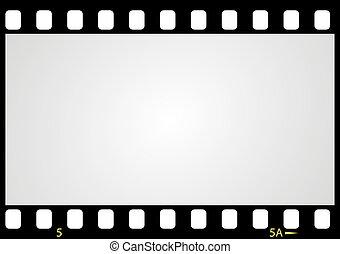 bild, vektor, negativ, film, rahmen