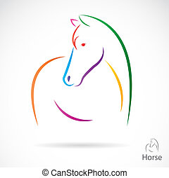 bild, vektor, pferd