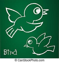 bild, vektor, vogel