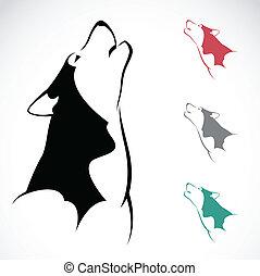 Bild, vektor,  Wolf