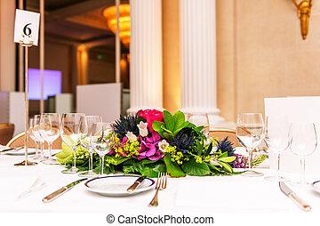 bild, wedding, schauplatz, dekoriert, beautifully