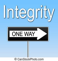 """bild, weg, eins, """"integrity"""", zeichen., begriff"""