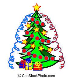 bild, weihnachtsbäume