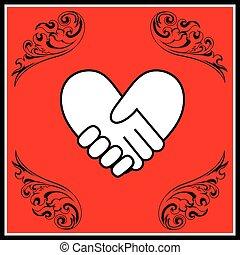 bilda, heart2, handslag