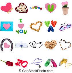 bilder, valentines, liebe, tag, sammlung