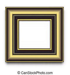 bilderrahmen, vektor, oder, foto