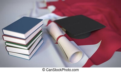 bildung, kappe, diplom, animation, bahraini, verwandt,...