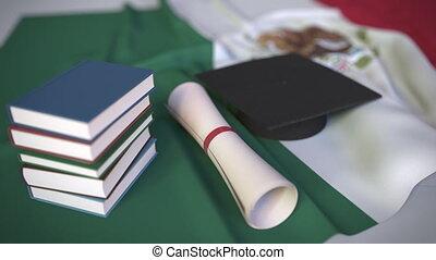 bildung, kappe, diplom, animation, verwandt, begrifflich,...