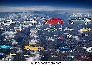 bilerne, flyve