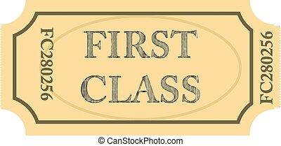 bilet, klasa, pierwszy