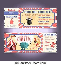 bilety, cyrk, retro