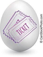 bilety, jajko, wielkanoc, wypadek