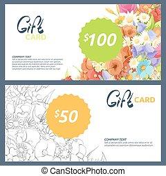 bilety, kwiaty, dar