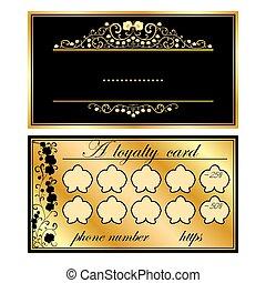 bilety, orchidee, złoty, handlowy, dwa