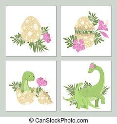 bilety, sprytny, egg., jego, dinozaury
