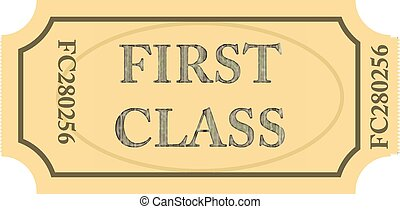 bilhete, classe, primeiro