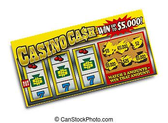 bilhete, loteria