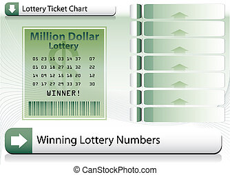 bilhete, loteria, fundo, ganhar