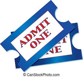 bilhetes, admissão
