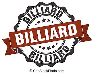 biliárd-, stamp., cégtábla., fóka
