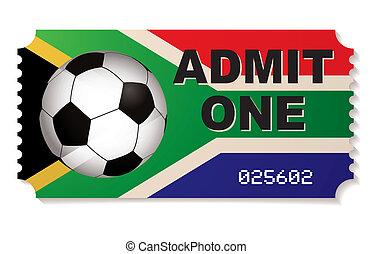 biljett, fotboll, afrika, syd