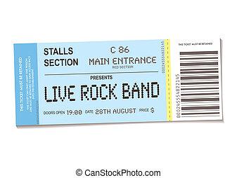 biljett, konsert