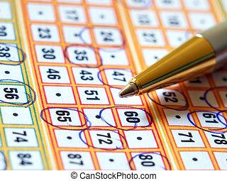 biljett, lotteri