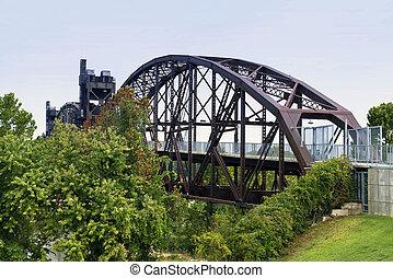 Bill Clinton truss bridge in Little Rock, Arkansas.