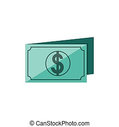 bill dollar isolated icon