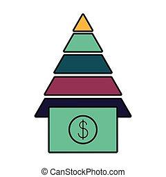 bill dollar money with pyramid