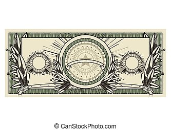 bill dollar print seal isolated icon