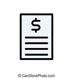 bill flat color icon