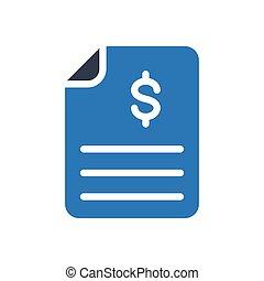 bill glyph color icon