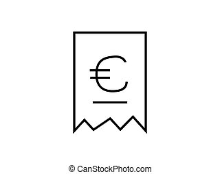 bill money payment with euro symbol illustration vector