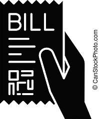Bill of exchange black glyph icon