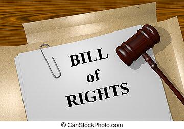 Bill of Rights concept - Render illustration of Bill of...
