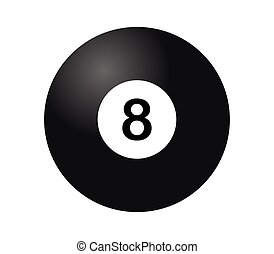billard, 8, noir