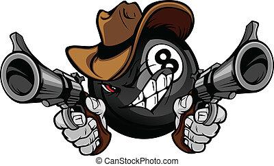 billard, teich, kugel acht, shootout