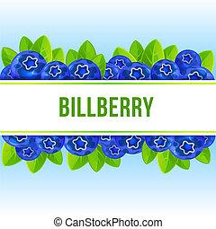 Billberry concept background, cartoon style