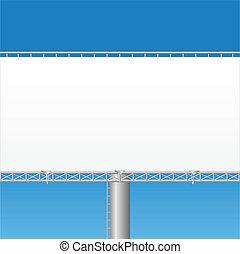 billboard, 矢量, 描述, 空白