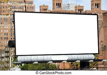 Billboard - A large blank urban billboard with copy space
