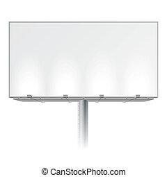 billboard, anunciando, em branco