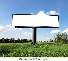 billboard, ao ar livre, anunciando