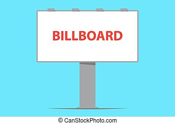 billboard, ao ar livre, tábua, anunciando
